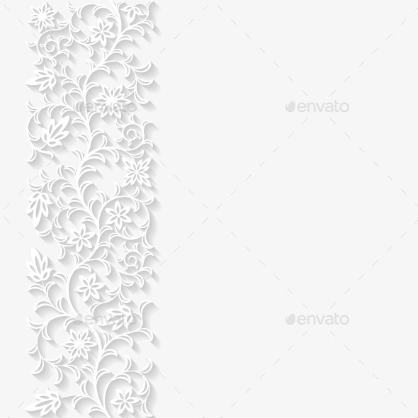 Abstract Paper Floral Background - Backgrounds Decorative