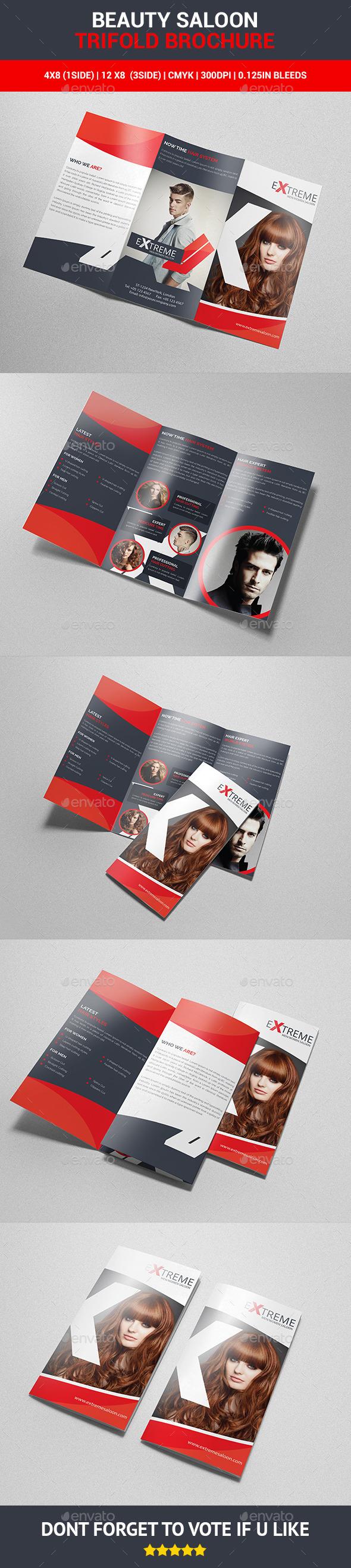 Beauty Saloon Trifold Brochure - Corporate Brochures
