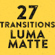 27 Transitions Luma Mattes - VideoHive Item for Sale