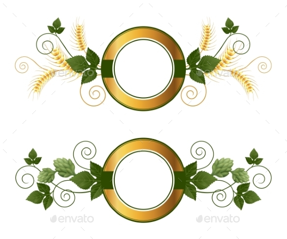 Beer Emblems - Flourishes / Swirls Decorative