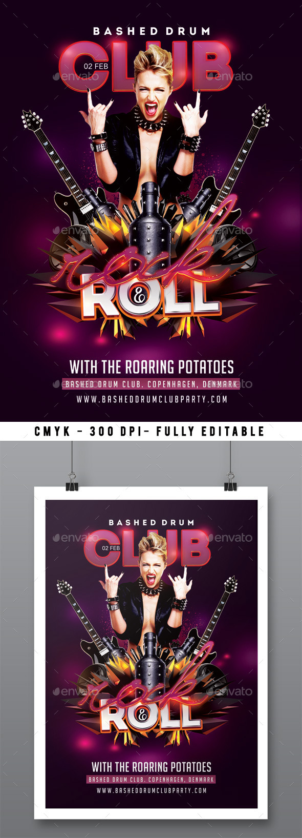 Rock And Roll Bashed Drum Party In Club - Clubs & Parties Events