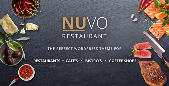 Image of NUVO - Restaurant, Cafe & Bistro Drupal Theme