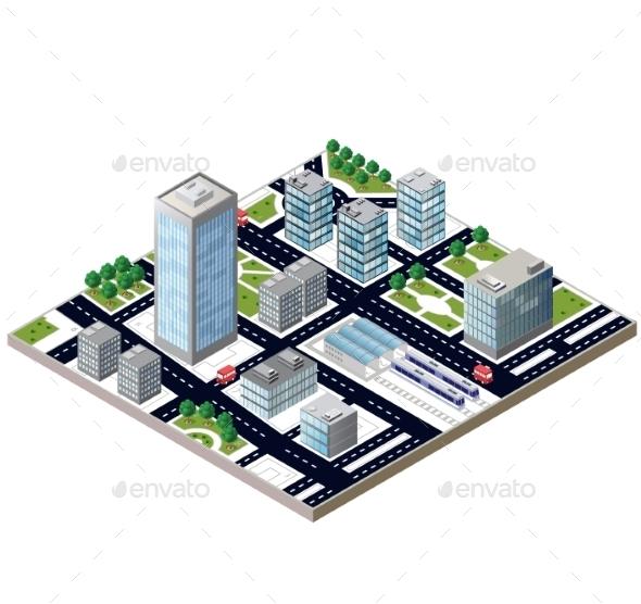 City Blocks - Buildings Objects