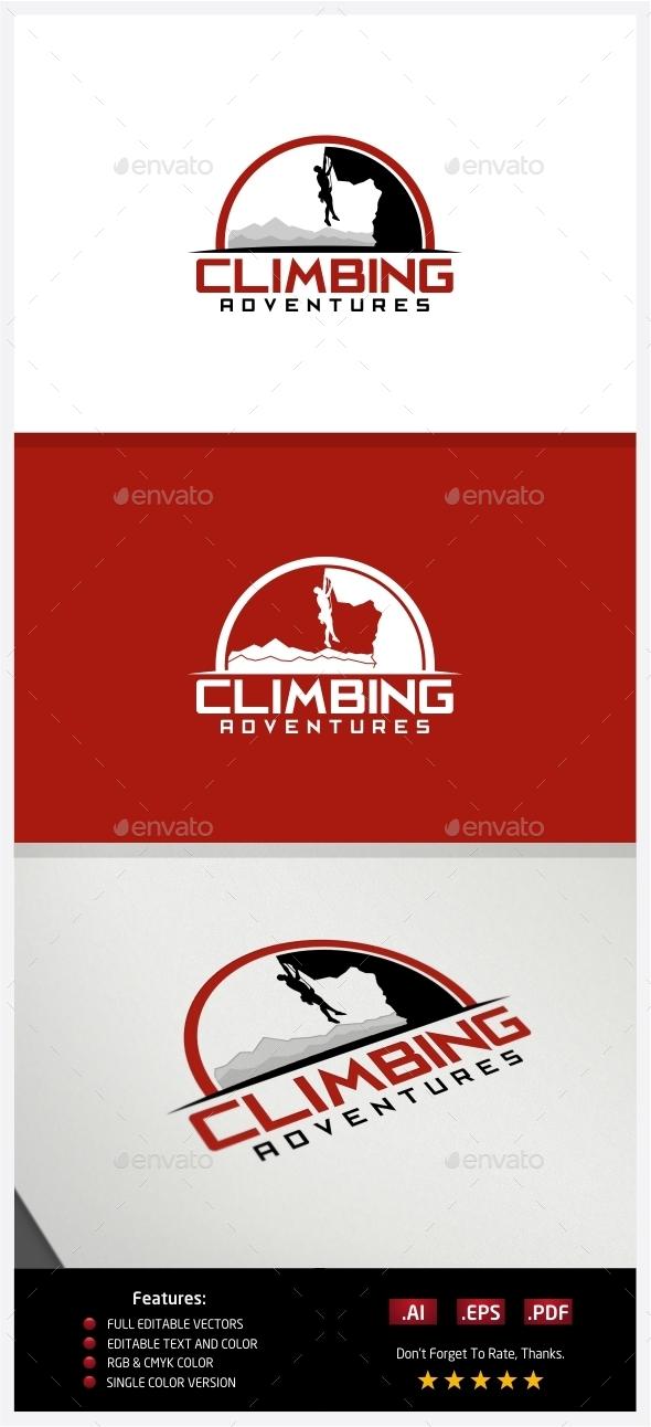 Climbing Adventures Logo - Nature Logo Templates