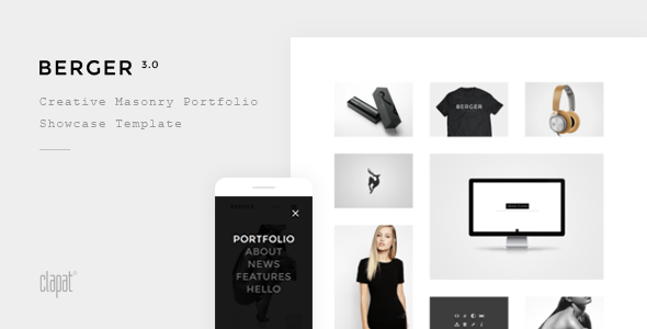 Berger – Creative Agency Portfolio Template