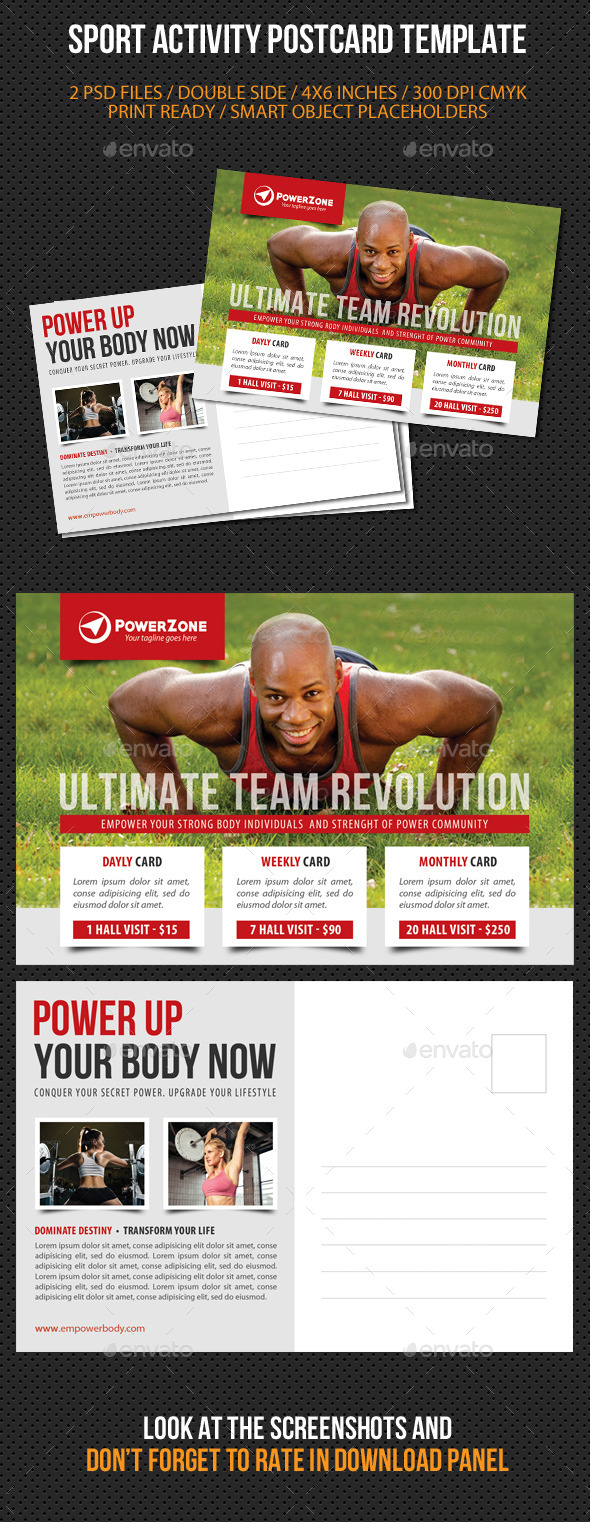 Sport Activity Postcard Template V05 - Cards & Invites Print Templates