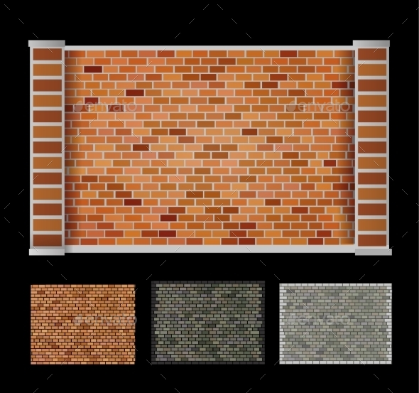 Wall  of Bricks - Backgrounds Decorative