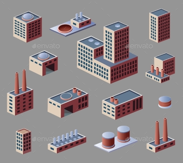 Industrial Buildings - Buildings Objects