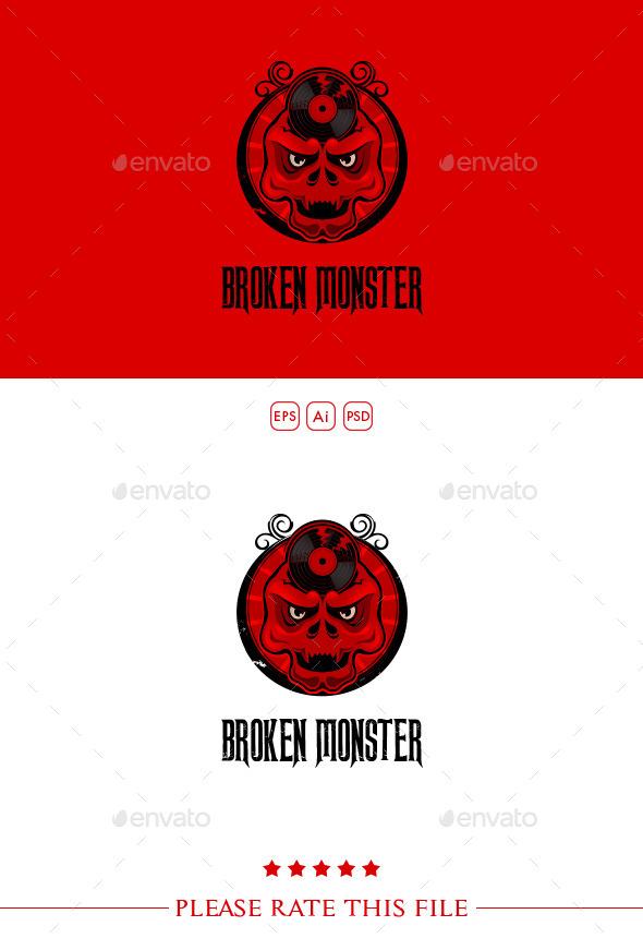 Skull Logo - Vector Abstract