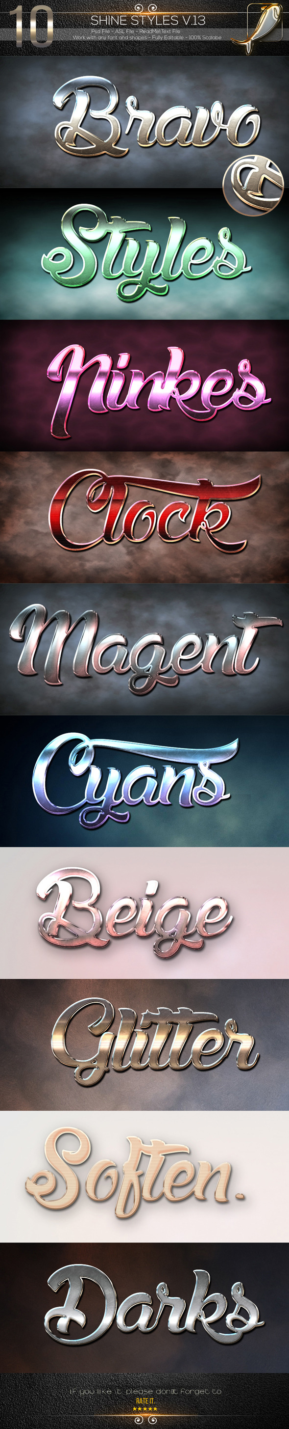10 Shine Styles V.13 - Text Effects Styles