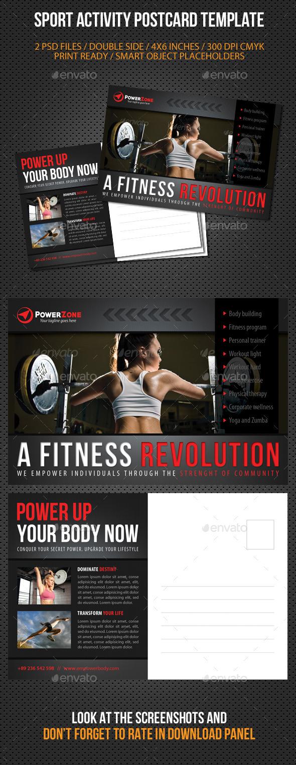 Sport Activity Postcard Template V06 - Cards & Invites Print Templates