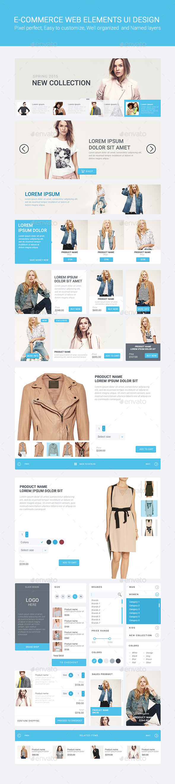 Slade E-commerce Web Elements UI Design - User Interfaces Web Elements