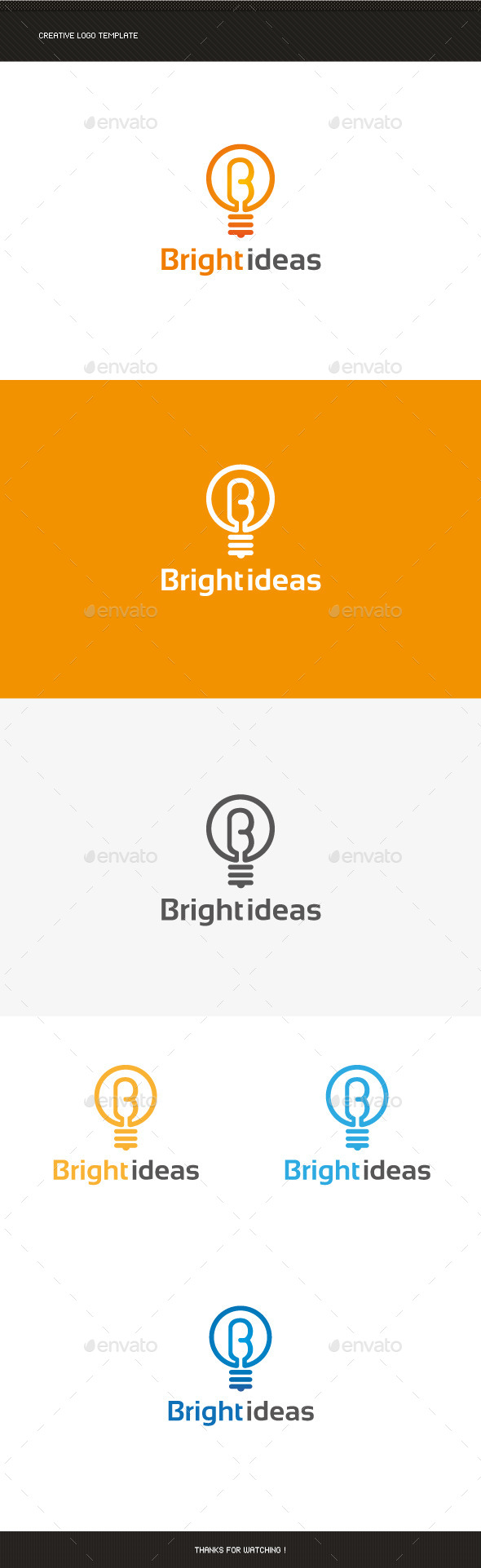 Bright Idea Logo Template - Letters Logo Templates