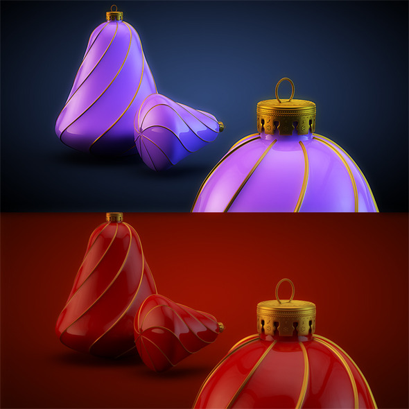 Christmas Decoration HiRes 14 - 3DOcean Item for Sale