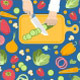 Flat Fresh Salads - GraphicRiver Item for Sale