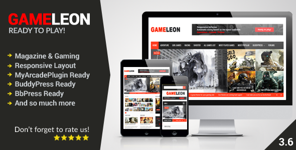 Gameleon – WordPress Magazine & Arcade Theme