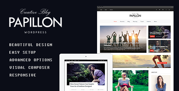 Papillon - Creative WordPress Blog Theme - Personal Blog / Magazine