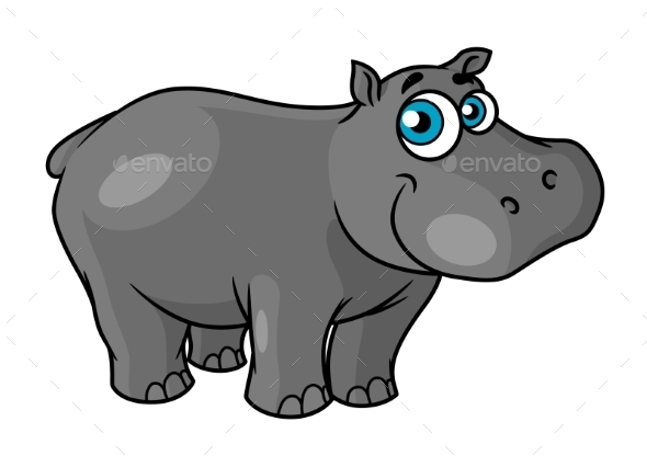 Cartoon Hippo - Animals Characters