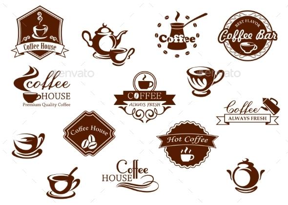 Coffee Icons - Decorative Symbols Decorative