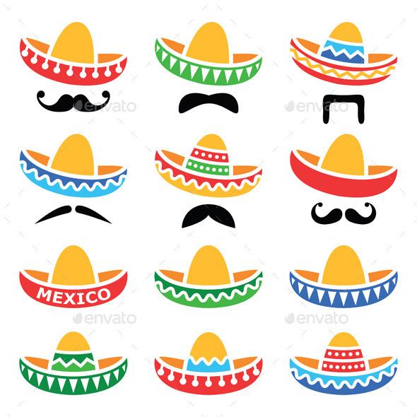 Mexican Sombrero Hats - Travel Conceptual