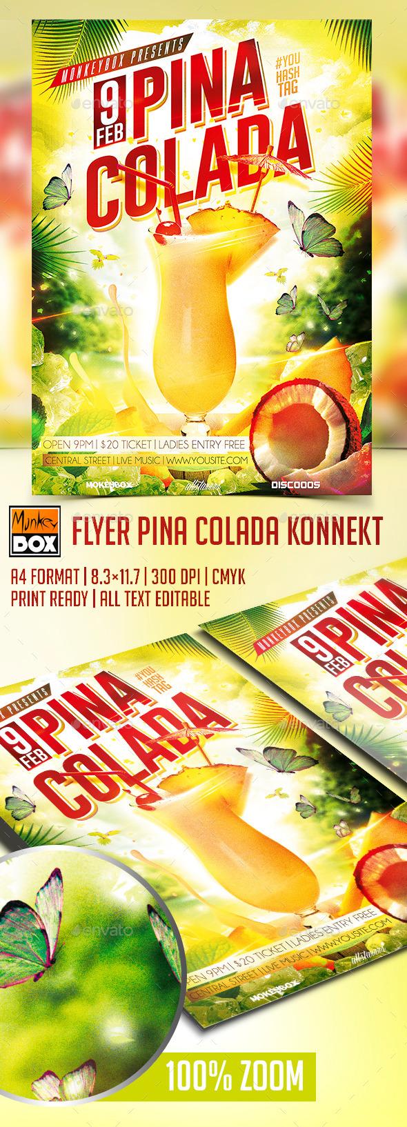 Flyer Pina Colada Konnekt - Clubs & Parties Events