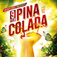 Flyer Pina Colada Konnekt - GraphicRiver Item for Sale