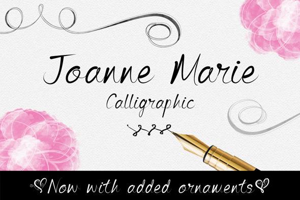 Joanne Marie Calligraphic Font - Calligraphy Script