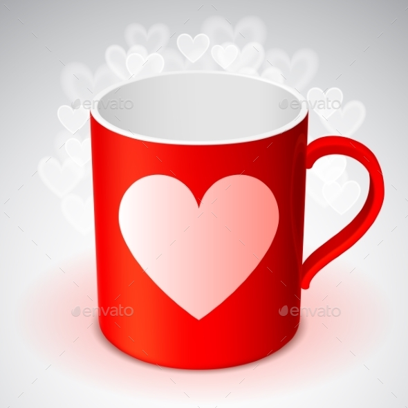 Cup with Heart Symbol - Valentines Seasons/Holidays