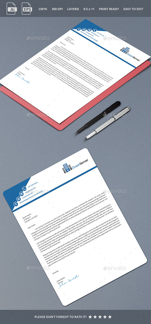 Letterhead Design 1 - Stationery Print Templates