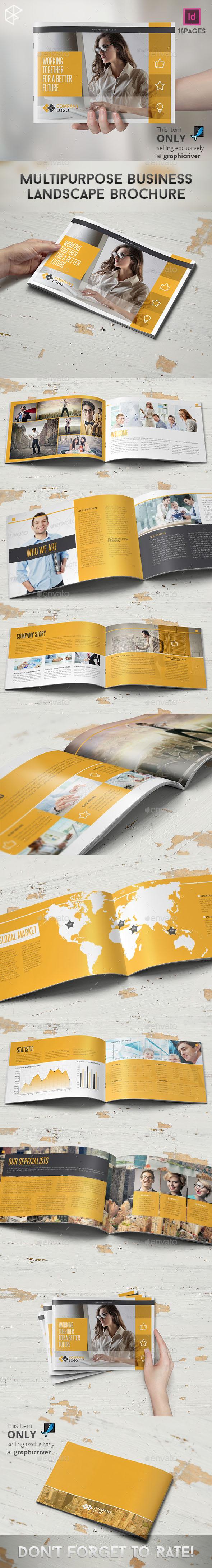 Multipurpose Business Landscape Brochure - Corporate Brochures