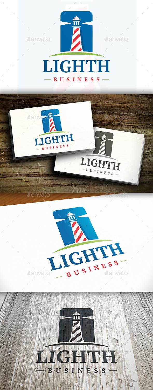 Modern Lighthouse Logo - Buildings Logo Templates