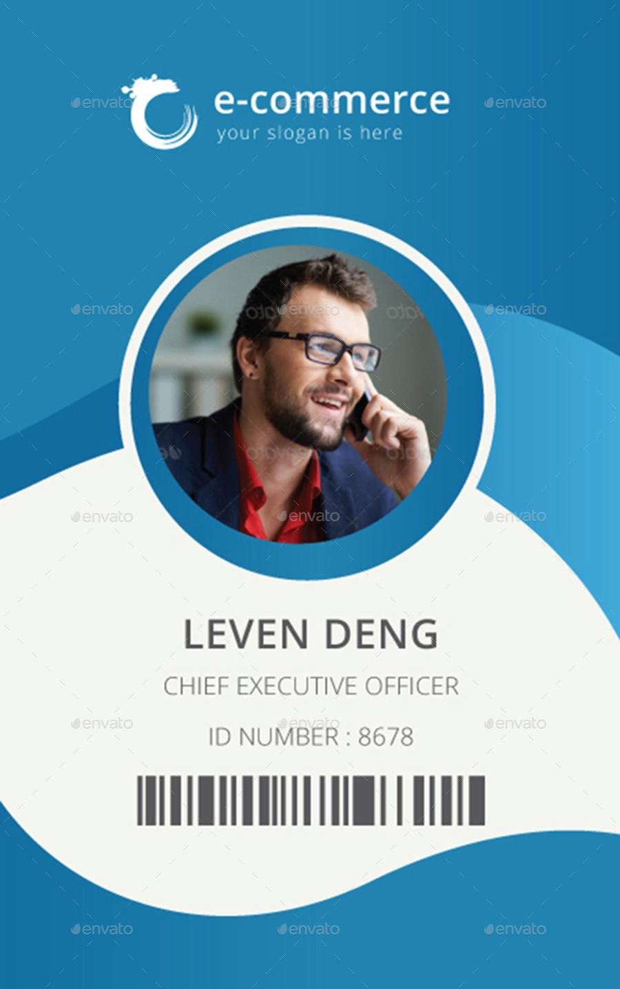 E-Commerce Business Office ID Card by dotnpix | GraphicRiver