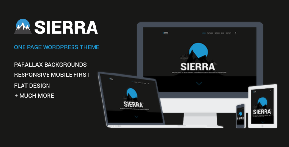 Sierra – One Page Responsive WordPress Theme