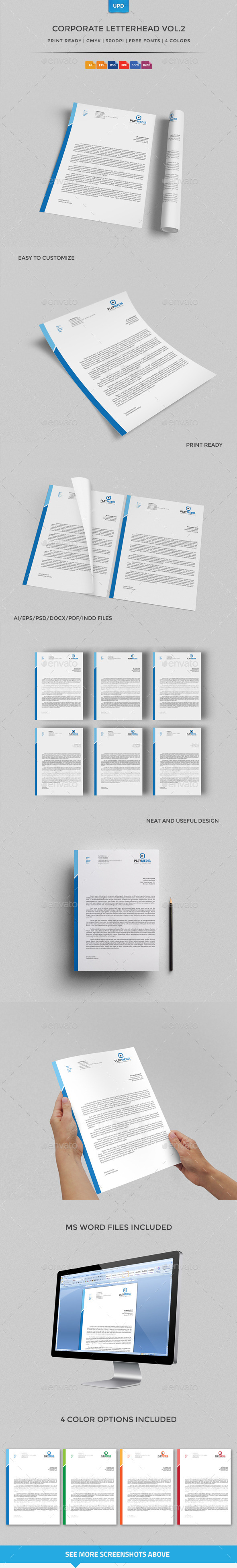 Corporate Letterhead Vol2 With MS Word Doc