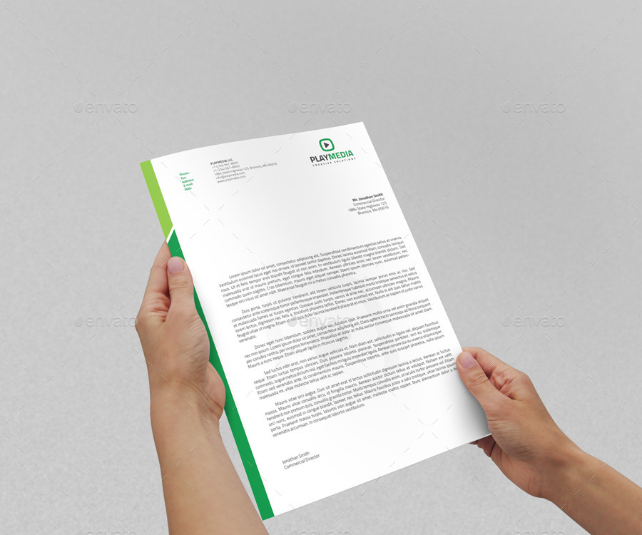 Corporate Letterhead Vol With Ms Word Doc By Nazdrag  Graphicriver
