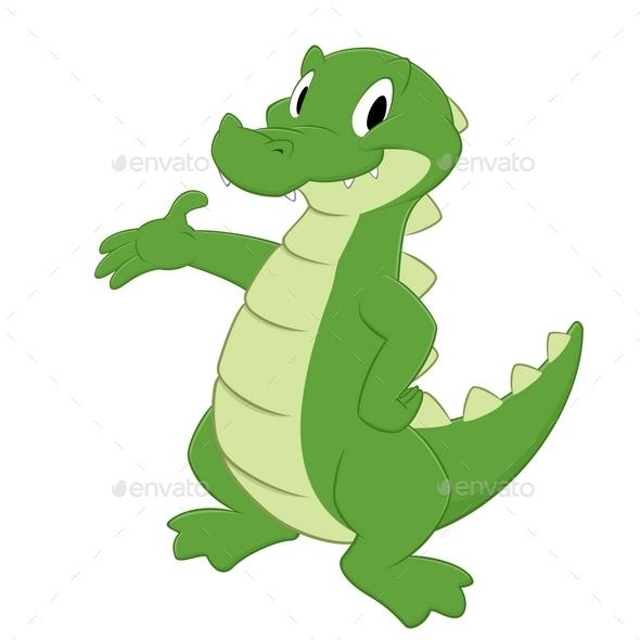 Cartoon Crocodile - Animals Characters