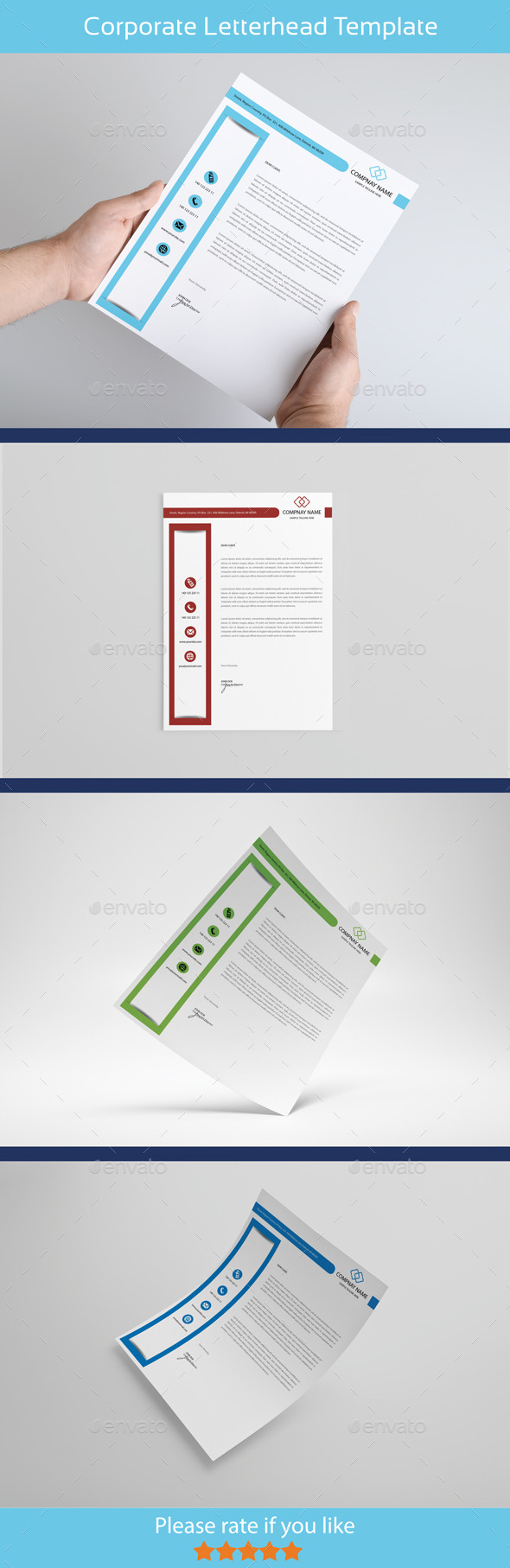 Creative & Modern Letterhead - Proposals & Invoices Stationery