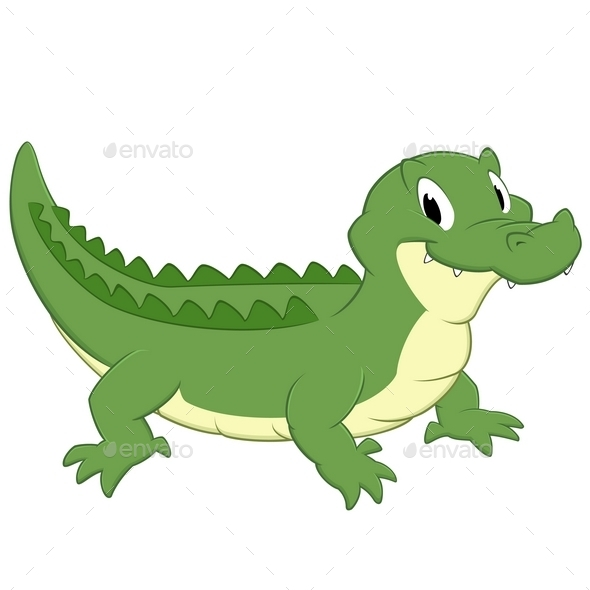 Cartoon Crocodile - Animals Characters