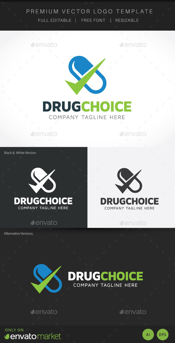 Drug Choice - Objects Logo Templates