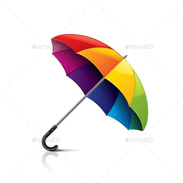 Colorful Umbrella - Man-made Objects Objects
