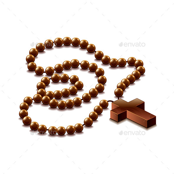 Rosary with Cross - Religion Conceptual