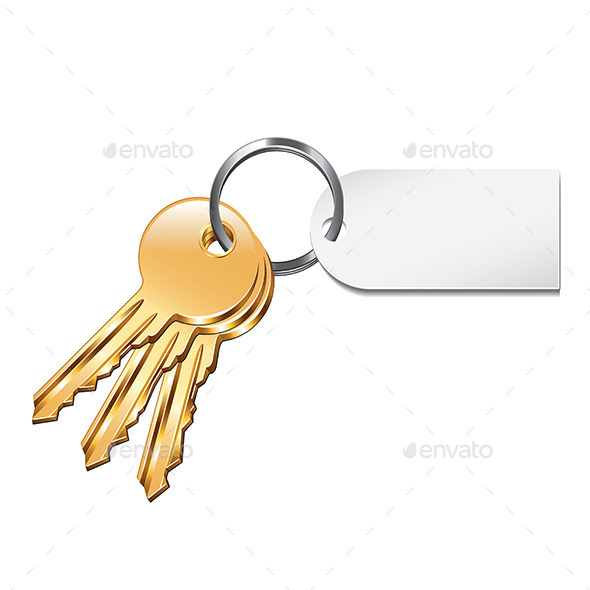 Keys with Tag - Man-made Objects Objects