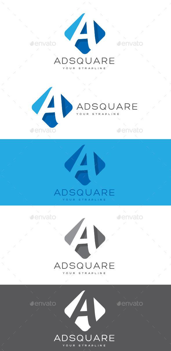 Adsquare Letter A Logo - Letters Logo Templates