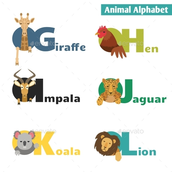 Animal Alphabet - Animals Characters