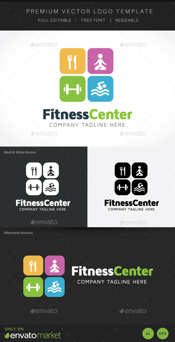 Fitness Centre - Buildings Logo Templates