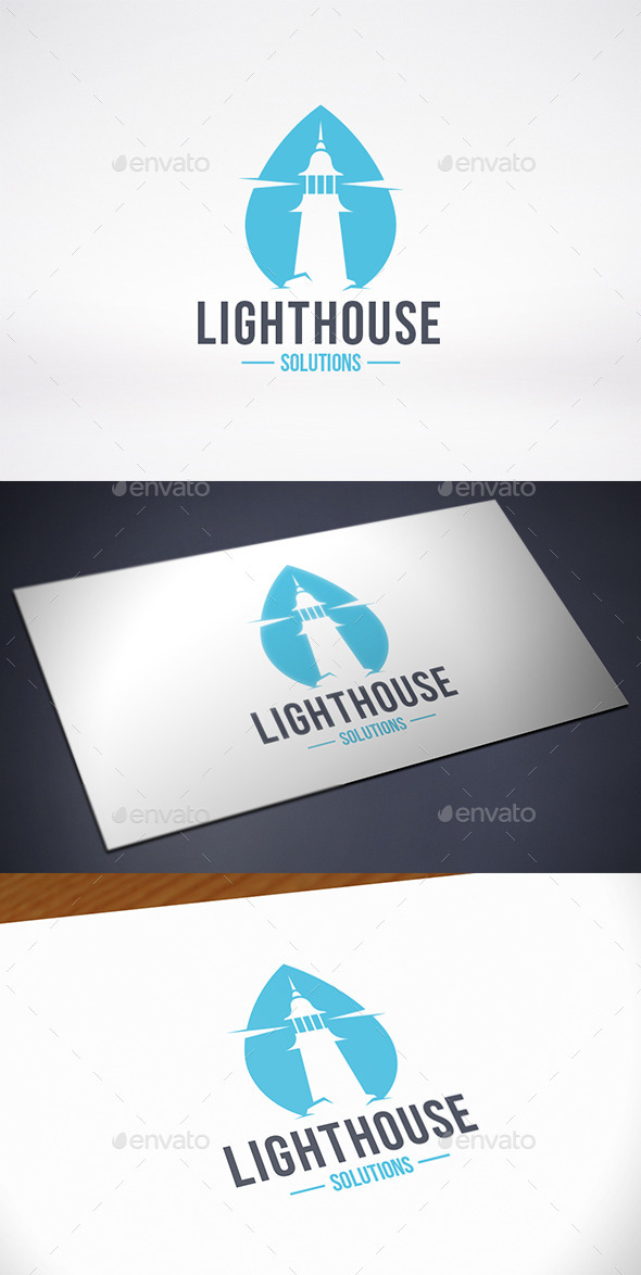 Lighthouse Water Logo Template - Buildings Logo Templates