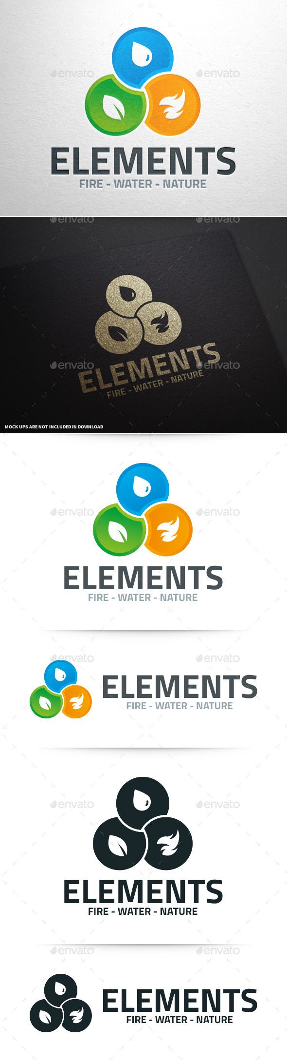 Elements Logo Template - Nature Logo Templates