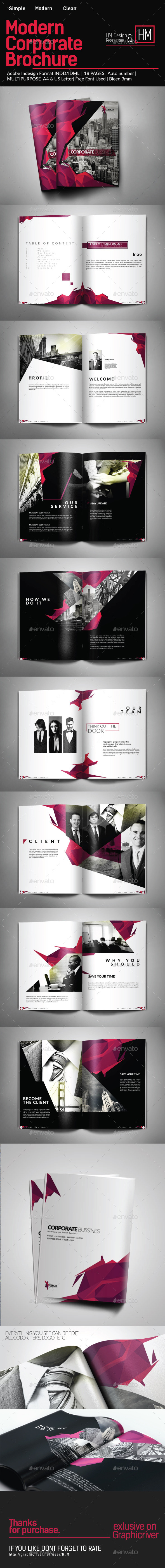 Modern Corporate Bussiness Brochure Potrait - Corporate Brochures