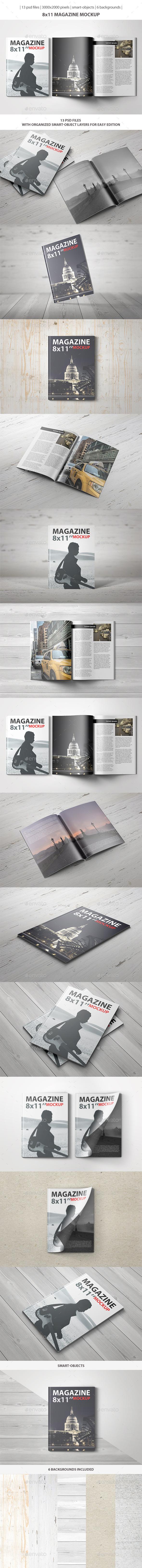 8x11 Magazine Mockup - Magazines Print