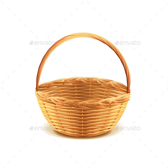 Wicker Basket - Man-made Objects Objects